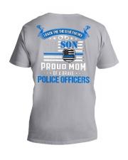 Police - Back The Blue For My Son 2 Sides V-Neck T-Shirt tile