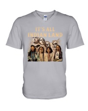 Native- It Is All Indian Land V-Neck T-Shirt thumbnail