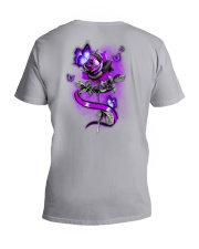 Butterfly Rose 2 Sides V-Neck T-Shirt tile