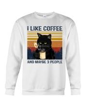 Coffee Cat - I Like Coffee And Maybe 3 People Crewneck Sweatshirt tile