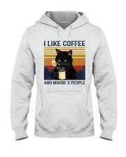 Coffee Cat - I Like Coffee And Maybe 3 People Hooded Sweatshirt tile