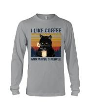 Coffee Cat - I Like Coffee And Maybe 3 People Long Sleeve Tee tile