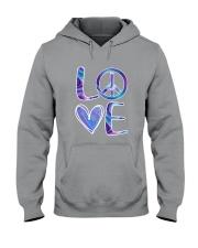 Hippie-Love Hippie Hologram Hooded Sweatshirt thumbnail