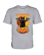 Cat - Vampurr V-Neck T-Shirt thumbnail