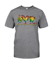 Peace Love Turtle Classic T-Shirt front