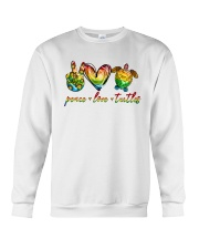Peace Love Turtle Crewneck Sweatshirt tile