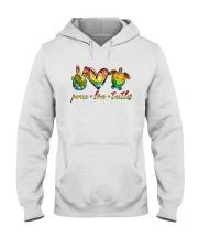 Peace Love Turtle Hooded Sweatshirt tile