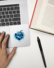 Turtle Blue Heart St Sticker - Single (Vertical) aos-sticker-single-vertical-lifestyle-front-12