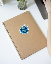 Turtle Blue Heart St Sticker - Single (Vertical) aos-sticker-single-vertical-lifestyle-front-28