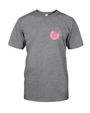 Breast Cancer Daisy 2 Sides Classic T-Shirt tile