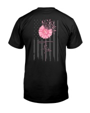 Breast Cancer Daisy 2 Sides Classic T-Shirt back