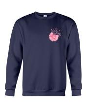 Breast Cancer Daisy 2 Sides Crewneck Sweatshirt thumbnail