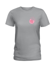 Breast Cancer Daisy 2 Sides Ladies T-Shirt tile