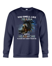 Skull - You Smell Like Drama Crewneck Sweatshirt thumbnail