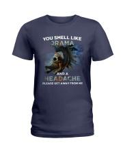 Skull - You Smell Like Drama Ladies T-Shirt thumbnail