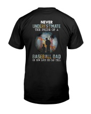 The Pride Of A Baseball Dad Classic T-Shirt back