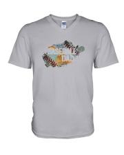The Pride Of A Baseball Dad V-Neck T-Shirt thumbnail