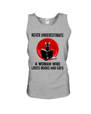 Cat Book Never Underestimate Unisex Tank thumbnail