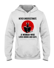 Cat Book Never Underestimate Hooded Sweatshirt tile