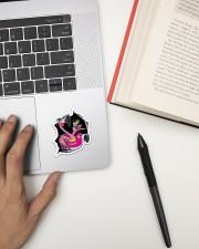 Flamingo Crack V2 Sticker - Single (Vertical) aos-sticker-single-vertical-lifestyle-front-12