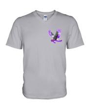 Fibromyalgia Be Stronger 2 Sides V-Neck T-Shirt thumbnail