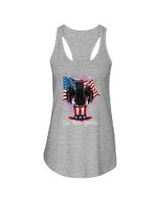 Cat - God Bless America Ladies Flowy Tank tile