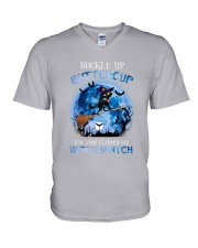 Black Cat - Buckle Up Buttercup V-Neck T-Shirt thumbnail