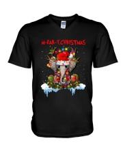 Elephant - M-ear-y Christmas V-Neck T-Shirt tile