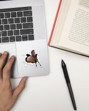 Running Horse Crack Sticker - Single (Vertical) aos-sticker-single-vertical-lifestyle-front-12