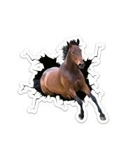 Running Horse Crack Sticker - Single (Vertical) front