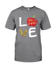 Customized Teacher Love Classic T-Shirt tile