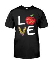 Customized Teacher Love Classic T-Shirt front