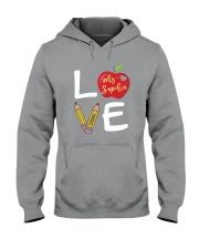 Customized Teacher Love Hooded Sweatshirt thumbnail