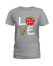 Customized Teacher Love Ladies T-Shirt thumbnail