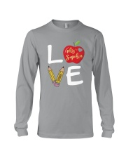 Customized Teacher Love Long Sleeve Tee thumbnail