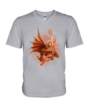 Multiple Sclerosis-Strong Like A Dragon V-Neck T-Shirt thumbnail