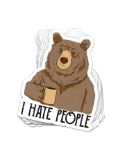 STICKER - Camping - I Hate People Sticker - 10 pack (Vertical) front