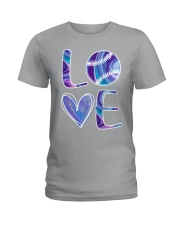 Softball Love Ladies T-Shirt thumbnail
