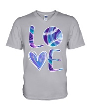 Softball Love V-Neck T-Shirt thumbnail