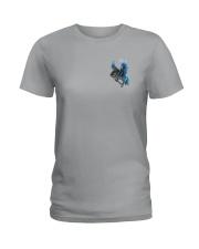 Horse Back The Blue 2 Sides Ladies T-Shirt thumbnail
