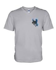 Horse Back The Blue 2 Sides V-Neck T-Shirt thumbnail