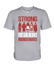 Native- Strong Resilient Indigenous V-Neck T-Shirt thumbnail