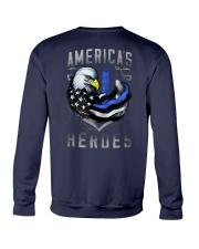 Back The Blue - Americas Heroes 2 Sides Crewneck Sweatshirt tile