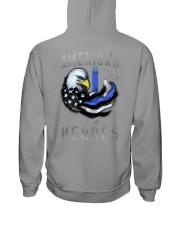Back The Blue - Americas Heroes 2 Sides Hooded Sweatshirt tile