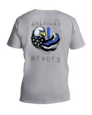 Back The Blue - Americas Heroes 2 Sides V-Neck T-Shirt tile