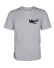 Back The Blue - Americas Heroes 2 Sides V-Neck T-Shirt thumbnail