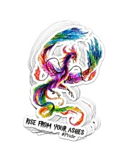 Lgbt - Rise From Your Ashes Sticker - 10 pack (Vertical) front