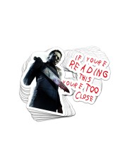 Too Close 1 Sticker - 10 pack (Horizontal) front