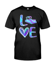 Pontoon Boat Love Purple Texture Classic T-Shirt front