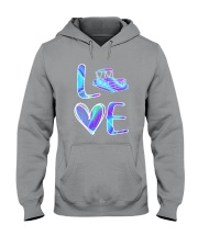 Pontoon Boat Love Purple Texture Hooded Sweatshirt thumbnail